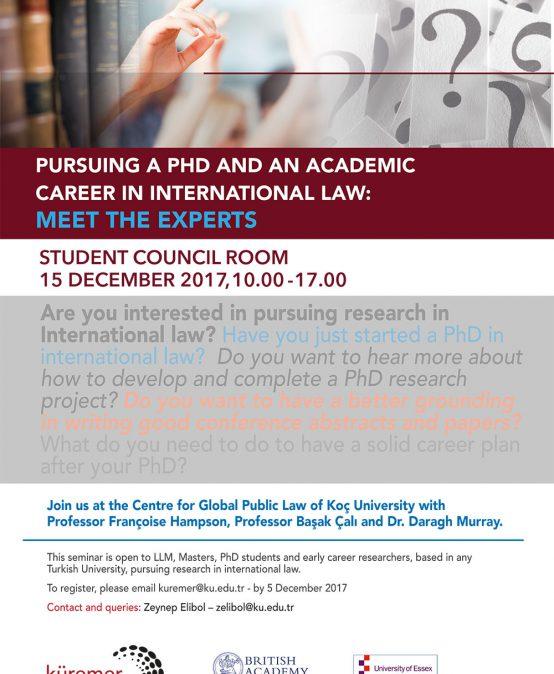 Pursuing Phd Academic Career International Law Meet Experts