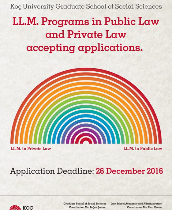 LL.M. Programs in Public Law and Private Law accepting applications