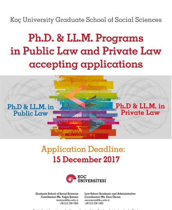 Ph.D. & LL.M. Programs in Public Law and Private Law Applications